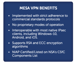MESA VPN Benefits