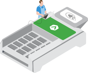 POS machine payment terminal illustration